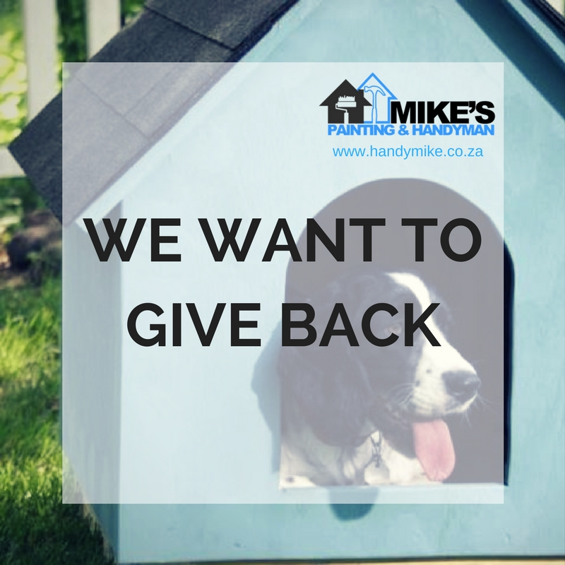 Give back to the community: Building Kennels for Winter